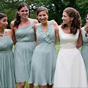 Size 6 JCrew bridesmaid dress in Sea Foam Green
